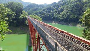 奥大井湖上駅へ
